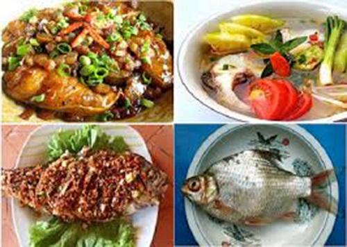 Các món ăn từ cá mè sông Mực